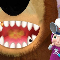 Masha And The Bear Dentist Game Online