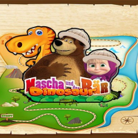 Masha and The Bear dinosaur Online