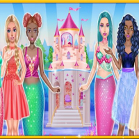 Princess & Mermaid Doll House Decorating Online