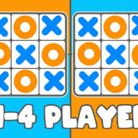 Tic Tac Toe 1-4 Player Online