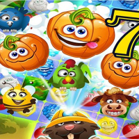 Funny Faces Farm Match3 Mermaid - treasure game  Online