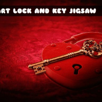 HEART LOCK AND KEY JIGSAW
